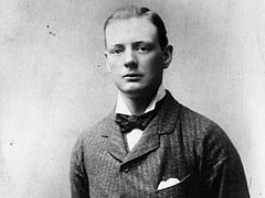 A young 24 year old Winston Churchill in 1898.
