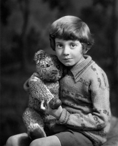 Christopher Robin Milne (21 August 1920 - 20 April 1996), son of author A. A. Milne and the basis of the character Christopher Robin in his father's Winnie-the-Pooh stories. Photograph by Marcus Adams, 14 March 1928.
